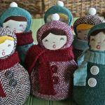 Handmade Christmas Carolers