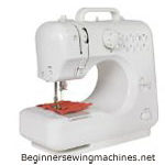 Michley LSS-505 Lil' Sew & Sew Sewing Machine with Built-In Stitches, Combo with Electrical Scissors and 100-Piece Sewing Kit