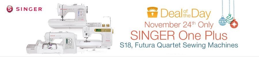 Amazon Deal of the Day - Singer One Plus - November 24th Only!