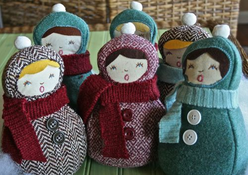 christmas carolers - Christmas Decorations To Make With Sewing Machine