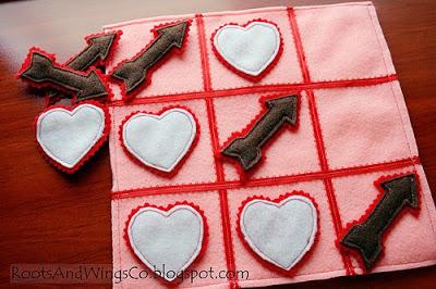 Handmade Valentine Tic-Tac-Toe Game